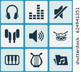 music icons set. collection of... | Shutterstock .eps vector #624941351
