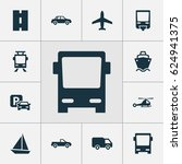 shipment icons set. collection... | Shutterstock .eps vector #624941375