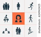 human icons set. collection of... | Shutterstock .eps vector #624942425