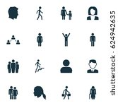 person icons set. collection of ... | Shutterstock .eps vector #624942635
