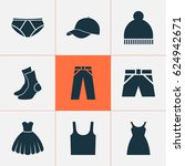 garment icons set. collection... | Shutterstock .eps vector #624942671