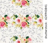 seamless floral pattern with... | Shutterstock .eps vector #624943841