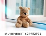 lonely bear is waiting by the... | Shutterstock . vector #624952931
