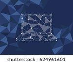 polygonal object. laptop... | Shutterstock .eps vector #624961601