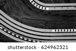 aerial top view track... | Shutterstock . vector #624962321