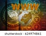 """3d rendering www"""" text  global   Shutterstock . vector #624974861"""
