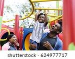 exercise activity family... | Shutterstock . vector #624977717