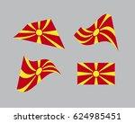 flag of macedonia  national... | Shutterstock .eps vector #624985451