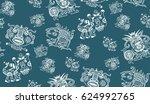 ethno aztec africa pattern | Shutterstock .eps vector #624992765