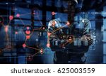 be aware of hacker attack.... | Shutterstock . vector #625003559