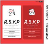rsvp card ui design with name...