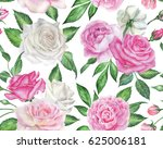 seamless floral pattern with... | Shutterstock . vector #625006181