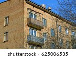 five story three porch brick... | Shutterstock . vector #625006535