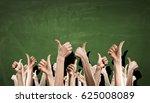 hands showing gestures . mixed... | Shutterstock . vector #625008089