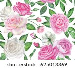 seamless floral pattern with... | Shutterstock . vector #625013369