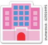 hotel building vector icon   Shutterstock .eps vector #625014491