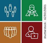employee icons set. set of 4... | Shutterstock .eps vector #625015001
