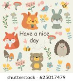 'have a nice day' poster with... | Shutterstock .eps vector #625017479