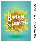 script typographic happy sunday ...   Shutterstock .eps vector #625020995