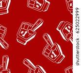 finger foam number one vector... | Shutterstock .eps vector #625022999