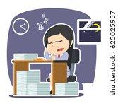 businesswoman sleeping while...   Shutterstock . vector #625025957