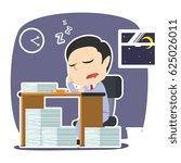 businessman sleeping while work ...   Shutterstock . vector #625026011