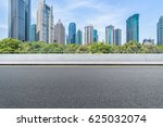empty road front of modern... | Shutterstock . vector #625032074