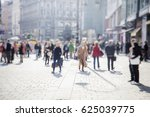 crowd of anonymous people... | Shutterstock . vector #625039775