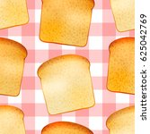 bright realistic tasty toasts ... | Shutterstock .eps vector #625042769