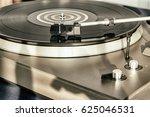 turntable vinyl record player....   Shutterstock . vector #625046531
