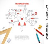 start up motivation concept... | Shutterstock .eps vector #625050695