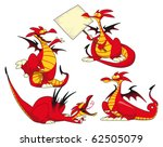funny dragons. cartoon and... | Shutterstock .eps vector #62505079