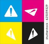 hazard warning attention sign.... | Shutterstock .eps vector #625059329