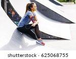 pretty young woman having... | Shutterstock . vector #625068755