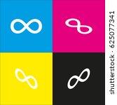 infinity sign vector icon.... | Shutterstock .eps vector #625077341