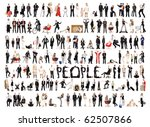 collage of a lots of people... | Shutterstock . vector #62507866