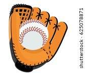 baseball equipment. softball... | Shutterstock .eps vector #625078871