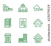 estate icons set. set of 9... | Shutterstock .eps vector #625079519
