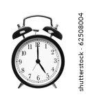 alarm clock shows five o clock... | Shutterstock . vector #62508004