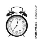 alarm clock isolated on white... | Shutterstock . vector #62508019