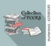 books card design. vector... | Shutterstock .eps vector #625083185
