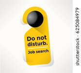 do not disturb door sign with... | Shutterstock .eps vector #625084979