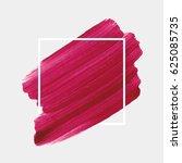 logo brush painted acrylic... | Shutterstock .eps vector #625085735