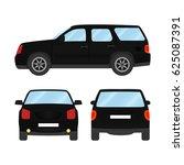 car vector template on white... | Shutterstock .eps vector #625087391