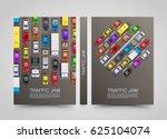 modern transport vertical... | Shutterstock .eps vector #625104074