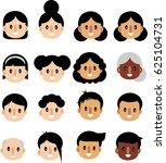 cartoon set of people diverse... | Shutterstock .eps vector #625104731