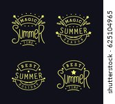 magic summer season. best... | Shutterstock . vector #625104965
