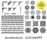 asian large set of patterns and ... | Shutterstock .eps vector #625106999