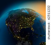night view of north america... | Shutterstock . vector #62511232