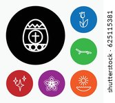 Set Of 6 Spring Outline Icons...